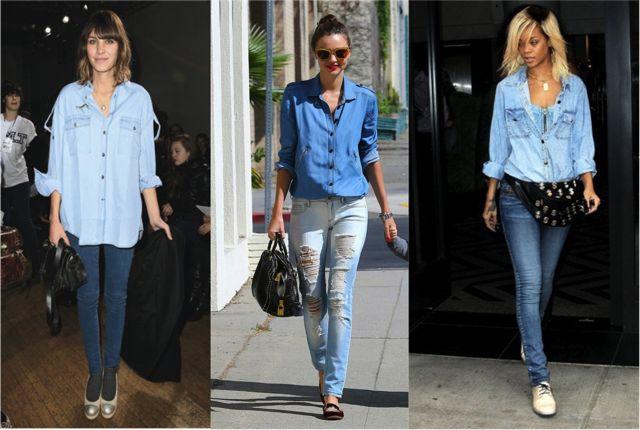 Звезды в джинсовой одежде фото