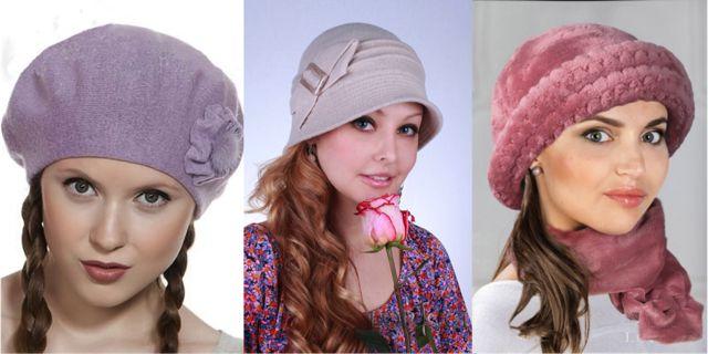 Фото женских головных уборов