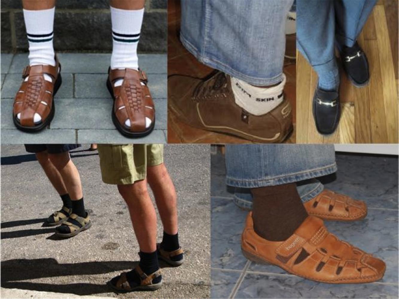 Мужские сандалии с носками обувь