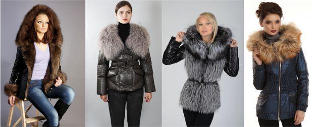 Кожаные куртки с натуральным мехом женские зимние фото