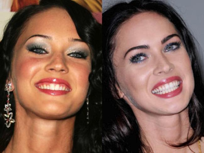 Меган фокс до и после фото