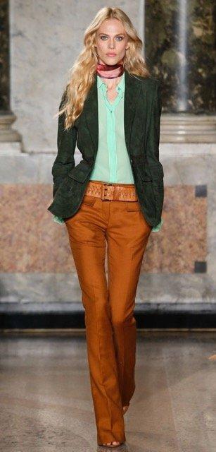 Сочетание оранжевого и зеленого цвета