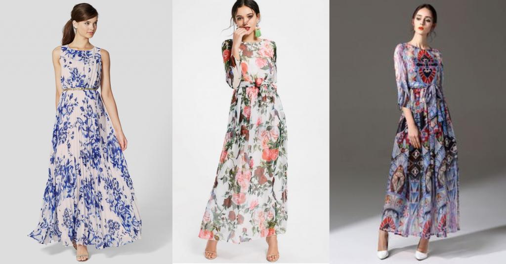 Длинные платья из легких тканей для свадьбы на природе